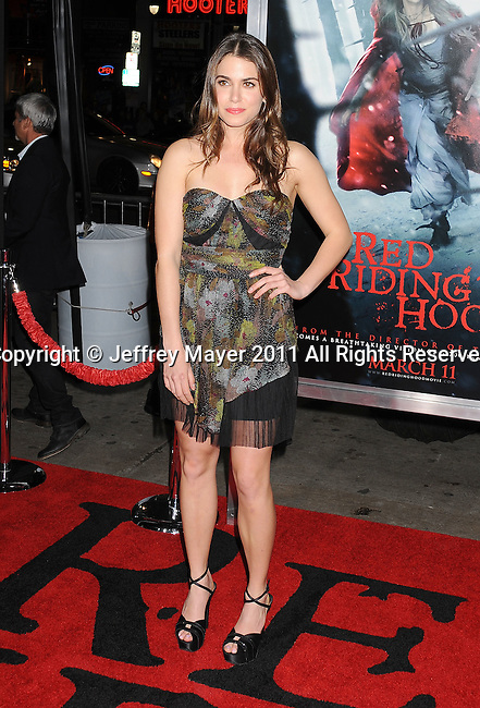 """HOLLYWOOD, CA - MARCH 07: Nikki Reed arrives to the """"Red Riding Hood"""" Los Angeles Premiere at Grauman's Chinese Theatre on March 7, 2011 in Hollywood, California."""