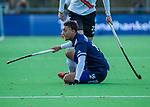 AMSTELVEEN - Marlon Landbrug (Pinoke) tijdens de competitie hoofdklasse hockeywedstrijd heren, Pinoke-Amsterdam (1-1)   COPYRIGHT KOEN SUYK