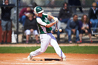 Farmingdale State Rams Tyler Schrimpf (28) at bat during the first game of a doubleheader against the FDU-Florham Devils on March 15, 2017 at Lake Myrtle Park in Auburndale, Florida.  Farmingdale defeated FDU-Florham 6-3.  (Mike Janes/Four Seam Images)