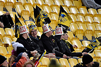 Fans during the Super Rugby - Hurricanes v Blues at Westpac Stadium, Wellington, New Zealand on Saturday 7 July 2018.<br /> Photo by Masanori Udagawa. <br /> www.photowellington.photoshelter.com
