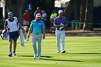 Tyrrell Hatton (ENG) and Paul Casey (ENG) during Round 1 of the Players Championship, TPC Sawgrass, Ponte Vedra Beach, Florida, USA. 12/03/2020<br /> Picture: Golffile   Fran Caffrey<br /> <br /> <br /> All photo usage must carry mandatory copyright credit (© Golffile   Fran Caffrey)