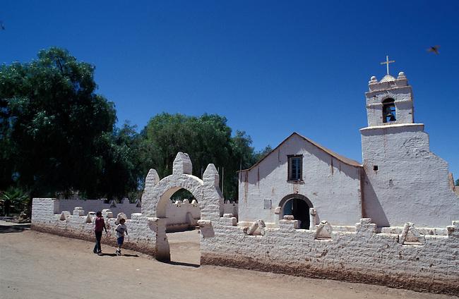 San Pedro de Atacama. L'eglise. *** Church of San Pedro de Atacama, Chile.