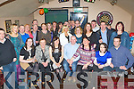 James O'Regan, Limerick Road, Castleisland seated centre who celebrated 40th birthday with his family and friends in the Shoemakers bar, Castleisland on Saturday night..