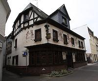 General view of Restaurant Klaus Jurk, Salzstra&szlig;e, Bingen, Nord Rhein-Westphalia, Germany.<br /> <br /> Gesamtansicht von Restaurant Klaus Jurk, Salzstra&szlig;e, Bingen, Nord Rhein-Westfalen, Deutschland.