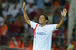 Sevilla's Bacca celebs his goal during the match between Sevilla FC and Villarreal day 9 spanish  BBVA League 2014-2015 day 5, played at Sanchez Pizjuan stadium in Seville, Spain. (PHOTO: CARLOS BOUZA / BOUZA PRESS / ALTER PHOTOS)