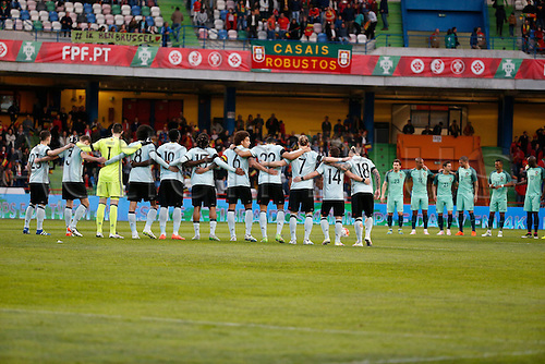 29.03.2016. Leiria, Portugal.  Victims of terrorist atack from both teams during the FIFA international friendly match between Portugal and Belgium as part of the preparation of the Belgian national soccer team prior to the UEFA EURO 2016  in Leiria, Portugal.
