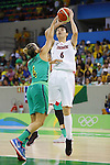 Yuka Mamiya (JPN), AUGUST 8, 2016 - Basketball : <br /> Women's Preliminary Round <br /> between Japan 82-66 Brazil <br /> at Youth Arena <br /> during the Rio 2016 Olympic Games in Rio de Janeiro, Brazil. <br /> (Photo by Yusuke Nakanishi/AFLO SPORT)