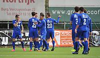 FC GULLEGEM - FC RUPEL BOOM :<br /> Spelers van Rupel Boom juichen na hun tweede doelpunt (0-2)<br /> <br /> Foto VDB / Bart Vandenbroucke