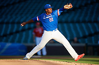 Kumar Rocker (22) of North Oconee High School in Watkinsville, Georgia during the Under Armour All-American Game presented by Baseball Factory on July 29, 2017 at Wrigley Field in Chicago, Illinois.  (Mike Janes/Four Seam Images)