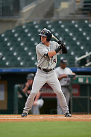 Lakeland Flying Tigers Brock Deatherage (14) at bat during a Florida State League game against the Jupiter Hammerheads on August 12, 2019 at Roger Dean Chevrolet Stadium in Jupiter, Florida.  Jupiter defeated Lakeland 9-3.  (Mike Janes/Four Seam Images)