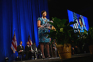 Washington, DC - January 2, 2015: Mayor Muriel Bowser delivers her inaugural speech after taking the oath of office during the 2015 inauguration ceremony held at the Washington Convention Center, January 2, 2015.   (Photo by Don Baxter/Media Images International)