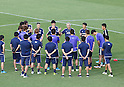 Football/Soccer: Japan national team training session