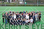 TENNIS: Dick Spring was invited top open the Tralee Tennis Club, Dan Spring Road, Tralee on Sunday looking on were members of the Tralee Tennis Club and Mr Eamon McCarthy (president of the Munster Tennis).