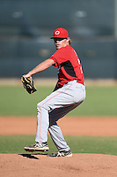 Cincinnati Reds pitcher Jeremy Kivel (77) during an Instructional League game against the Kansas City Royals on October 14, 2014 at Goodyear Training Complex in Goodyear, Arizona.  (Mike Janes/Four Seam Images)