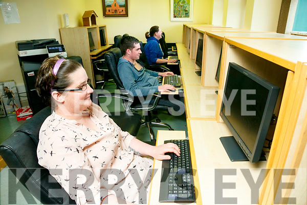 Buds Family Resource Centre, Ballyduff Internet Cafe. Pictured l-r Siobhan Harrington, Jamie Harrington and Mary Enright