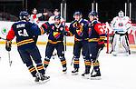 Stockholm 2014-08-21 Ishockey CHL Djurg&aring;rdens IF - Fribourg-Gotteron  :  <br /> Djurg&aring;rdens Nicklas Heiner&ouml; har gjort 1-1 och jublar med lagkamrater<br /> (Foto: Kenta J&ouml;nsson) Nyckelord:  Djurg&aring;rden Hockey Hovet CHL Fribourg Gotteron jubel gl&auml;dje lycka glad happy