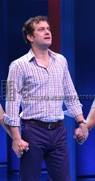 Joshua Jackson during the Broadway opening night performance Curtain Call for 'Children of a Lesser God' at Studio 54 Theatre on April 11, 2018 in New York City.