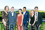 Enjoying the Killarney Schools Debs at Ballyroe Heights Hotel on Monday were l-r  Emma Jane Keenan, David Goggin, Conor Robson, Johnny Knoxville, Alannah Tanner and Luis O'Shea.
