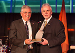 Feb. 27, 2013 - Garden City, New York, U.S. -  HARRISON H. SCHMITT, Apollo 17 Astronaut and former U.S. Senator, receives the Spirit of Discovery Award from ANDREW PARTON, Executive Director of Cradle of Aviation, at the 10th Annual Cradle of Aviation Museum Air & Space Gala, celebrating the 40th Anniversary of Apollo 17.