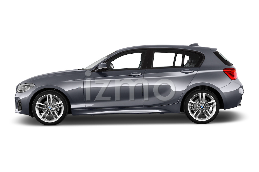 Car Driver side profile view of a 2015 BMW 1 Series M Sport 5 Door Hatchback Side View