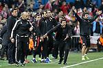 Atletico de Madrid's coach Diego Pablo Simeone during Champions League 2015/2016 Quarter-Finals 2nd leg match. April 13,2016. (ALTERPHOTOS/Acero)