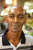 MAURITIUS; Port Louis; street portrait of a man at the Port Louis Market