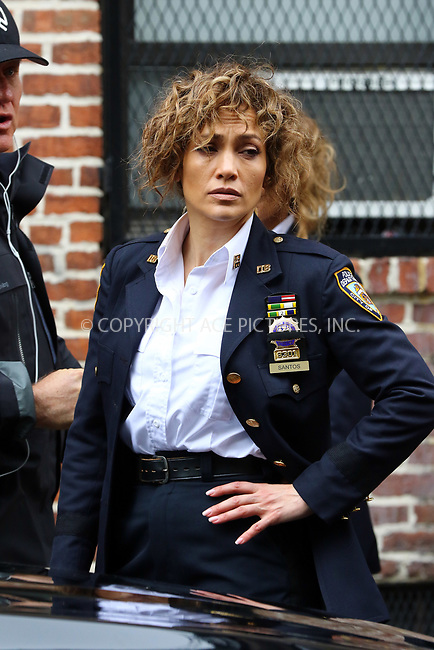 www.acepixs.com<br /> <br /> April 26 2017, New York City<br /> <br /> Actress Jennifer Lopez was on the set of the TV show 'Shades of Blue' on April 26 2017 in New York City<br /> <br /> By Line: Zelig Shaul/ACE Pictures<br /> <br /> <br /> ACE Pictures Inc<br /> Tel: 6467670430<br /> Email: info@acepixs.com<br /> www.acepixs.com