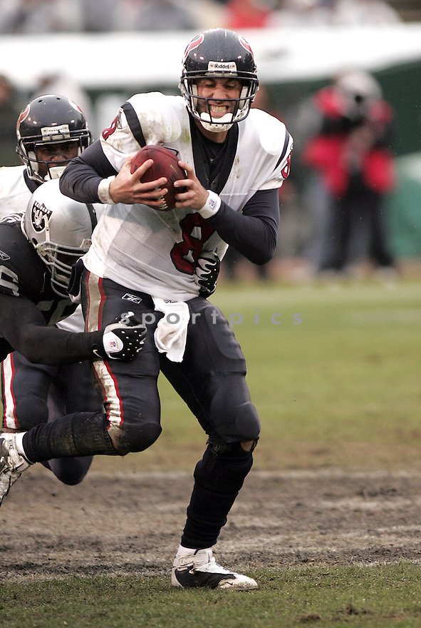 MATT SCHAUB, of the Houston Texans , in action during the Texans  game against the Oakland Raiders on December 21, 2008 in Oakland, CA...Raiders win 27-16