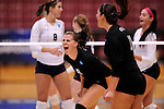 03 DEC 2011:  Samantha Middleborn (8) of Cal State San Bernardino celebrates a point against Concordia University St. Paul during the Division II Women's Volleyball Championship held at Coussoulis Arena on the Cal State San Bernardino campus in San Bernardino, Ca. Concordia St. Paul defeated Cal State San Bernardino 3-0 to win the national title. Matt Brown/ NCAA Photos