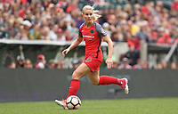 Portland, OR - Saturday April 29, 2017: Amandine Henry during a regular season National Women's Soccer League (NWSL) match between the Portland Thorns FC and the Chicago Red Stars at Providence Park.