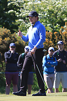 Eddie Pepperell (ENG) on the 4th green during Round 4 of the Betfred British Masters 2019 at Hillside Golf Club, Southport, Lancashire, England. 12/05/19<br /> <br /> Picture: Thos Caffrey / Golffile<br /> <br /> All photos usage must carry mandatory copyright credit (© Golffile | Thos Caffrey)