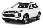 2020 Mitsubishi ASX Intense 5 Door SUV angular front stock photos of front three quarter view