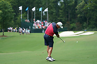 Graeme McDowell (NIR) plays his 2nd shot on the 11th hole during Wednesday's Practice Day of the 2017 PGA Championship held at Quail Hollow Golf Club, Charlotte, North Carolina, USA. 9th August 2017.<br /> Picture: Eoin Clarke | Golffile<br /> <br /> <br /> All photos usage must carry mandatory copyright credit (&copy; Golffile | Eoin Clarke)