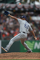 SAN FRANCISCO, CA - APRIL 5:  Wilmer Font #62 of the Tampa Bay Rays pitches against the San Francisco Giants during the game at Oracle Park on Friday, April 5, 2019 in San Francisco, California. (Photo by Brad Mangin)