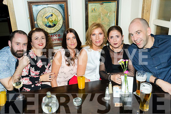 Pictured are staff members from Shaws Department Store, Tralee, as they celebrated the 20th anniversary of the store at the Brogue Inn, Tralee on Saturday night last were l-r: Jonathan Lynch, Lirie Muckaj, Ailis Doherty, Margaret Nolan Arta Beqaj, Mike Quinn.