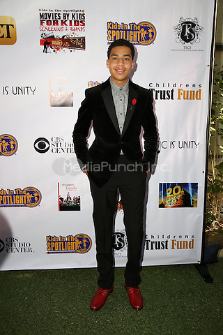 LOS ANGELES, CA - NOVEMBER 7: Marcus Scribner at the Kids In The Spotlight's Movies By Kids, For Kids Film Awards at Fox Studios in Los Angeles, California on November 7, 2015. Credit: David Edwards/MediaPunch