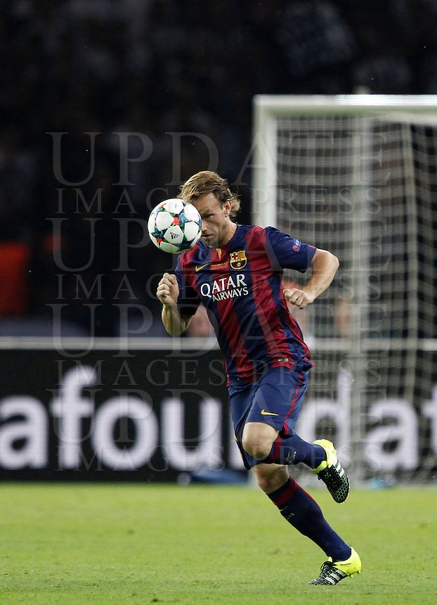 Calcio, finale di Champions League Juventus vs Barcellona all'Olympiastadion di Berlino, 6 giugno 2015.<br /> Barcelona's Ivan Rakitic in action during the Champions League football final between Juventus Turin and FC Barcelona, at Berlin's Olympiastadion, 6 June 2015. Barcelona won 3-1.<br /> UPDATE IMAGES PRESS/Isabella Bonotto