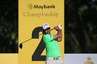 Pablo Larrazabal (ESP) on the 2nd tee during Round 1 of the Maybank Championship at the Saujana Golf and Country Club in Kuala Lumpur on Thursday 1st February 2018.<br /> Picture:  Thos Caffrey / www.golffile.ie<br /> <br /> All photo usage must carry mandatory copyright credit (© Golffile | Thos Caffrey)