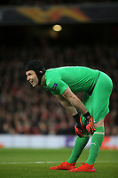 Arsenal goalkeeper, Petr Cech during Arsenal vs Rennes, UEFA Europa League Football at the Emirates Stadium on 14th March 2019
