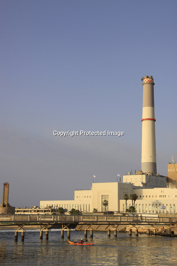 Israel, Tel Aviv-Yafo, Reading Power plant at the mouth of the Yarkon River was built in 1938
