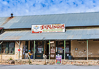 Terlingua front porch is a popular spot for locals plus tourist to hang out or shop or just chill and people watch. This day there wasn't much happening just a guy with his dog playing the guitar as people come to shop at the Terlingua Trading Company.