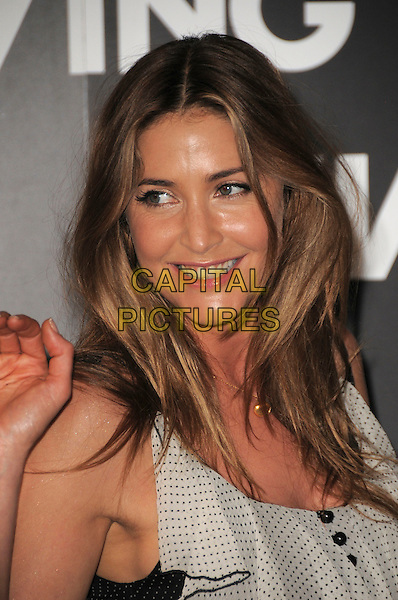 LISA SNOWDON .Launch Party for Living TV's Summer Schedule at Somerset House, London, USA..July 1st 2009.headshot portrait black white ruffle polka dot.CAP/CAS.©Bob Cass/Capital Pictures.