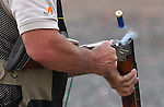 Coach Greg practices at the Capital City Gun Club, in Carson City, Nev., on Friday, July 11, 2014.<br /> Photo by Cathleen Allison