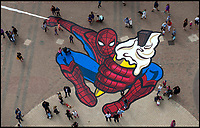Spider-Man street art revealed.