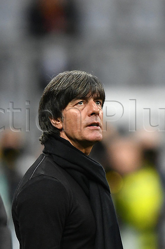 29.03.2016. Munich, Germany. International soccer match between Germany and Italy, at the Allianz Arena. Trainer Coach Joachim Jogi Loww (GER)