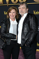 "LOS ANGELES - NOV 14:  Marilou York, Mark Hamill at the ""Knives Out"" Premiere at Village Theater on November 14, 2019 in Westwood, CA"