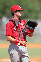 St. Louis Cardinals minor league player Robert Stock during a spring training game vs the New York Mets at the Roger Dean Sports Complex in Jupiter, Florida;  March 24, 2011.  Photo By Mike Janes/Four Seam Images