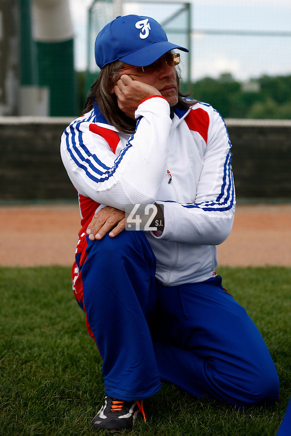 25 June 2011: Pascal Maitrot of Team France is seen during Czech Republic 11-1 win over France, at the 2011 Prague Baseball Week, in Prague, Czech Republic.