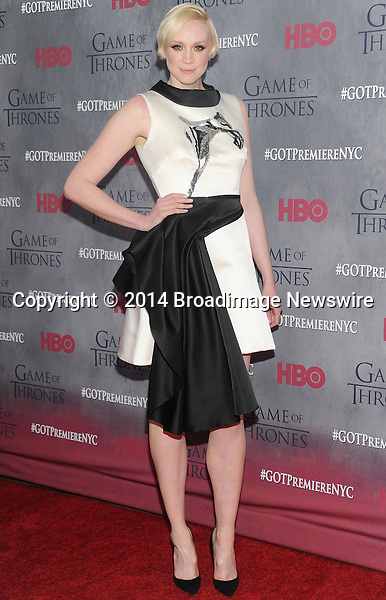 Pictured: Gwendoline Christie<br /> Mandatory Credit &copy; Jack Shea/Starshots/Broadimage<br /> <br /> &quot;Game Of Thrones&quot; Season 4 New York Premiere - Arrivals<br /> <br /> 3/18/14, New York, New York, United States of America<br /> <br /> Broadimage Newswire<br /> Los Angeles 1+  (310) 301-1027<br /> New York      1+  (646) 827-9134<br /> sales@broadimage.com<br /> http://www.broadimage.com