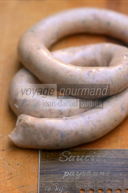 Europe/France/Alsace/67/Bas-Rhin/Strasbourg: La saucisse paysanne ingrédient de la choucroute alsacienne